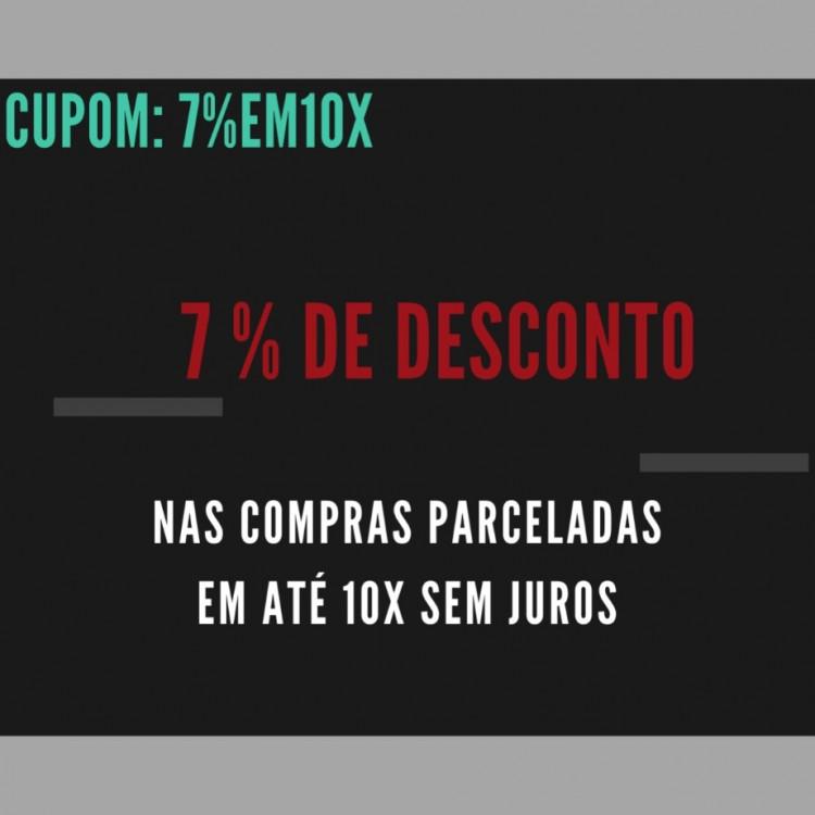 7% DE DESCONTO NA COMPRA PARCELADA EM ATÉ 10X