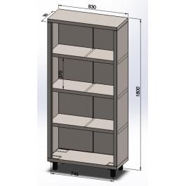 Armário Vertical - AV  83x35x180cm | Aço Inox 304 | Evolução Inox  - AV304