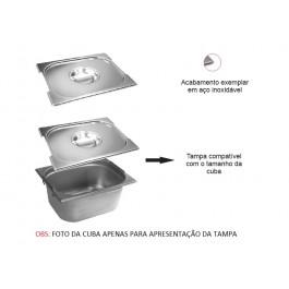 Tampa Gastronômica Aço Inox - Com recorte  1/6 | Evolução Inox TG-1/6