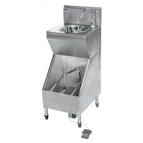 Lava-Botas (Aço inox 304) com Lavatório para Assepsia Integrado |Evolução Inox  LBL-40