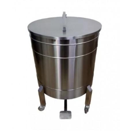 Lixeira em Aço Inox 100 litros - Com Pedal| Evolução Inox  CD-100L